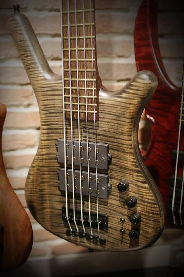 Framus & Warwick Corvette $$ 5 strings Bleached Nirvana Black OFC