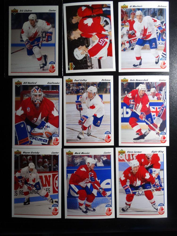 199192 upper deck ud team canada team set of 8 hockey