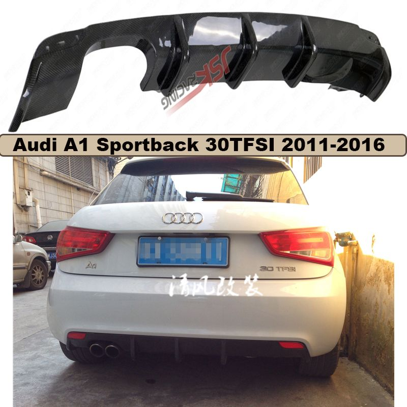 High Quality Carbon Fiber Rear Lip Spoiler Bumper Diffuser For Audi A1 Sportback 30tfsi 2011 2012 13 14 15 2016 Car A Audi A1 Sportback Audi A1 Car Accessories