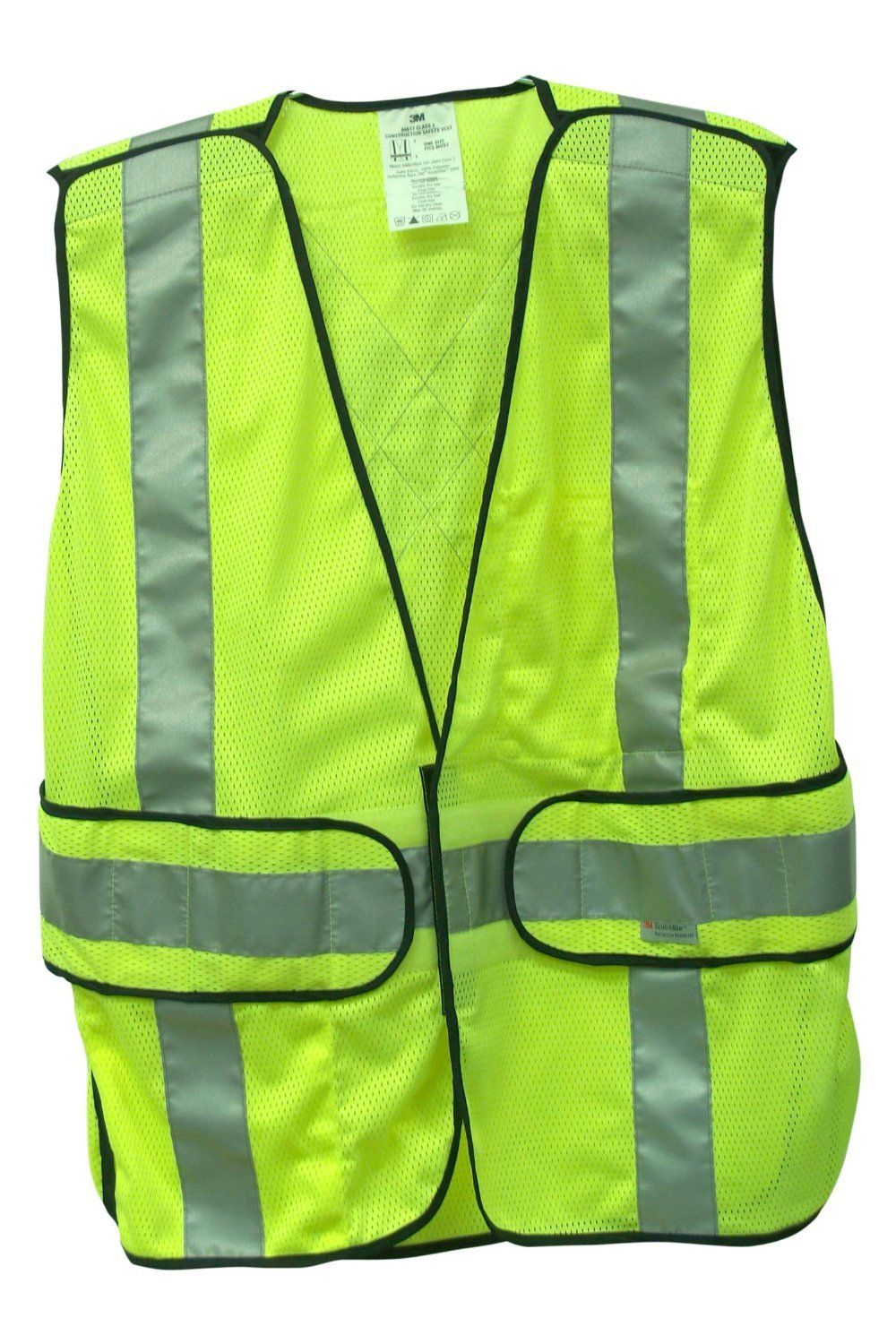 construction safety vest with pockets
