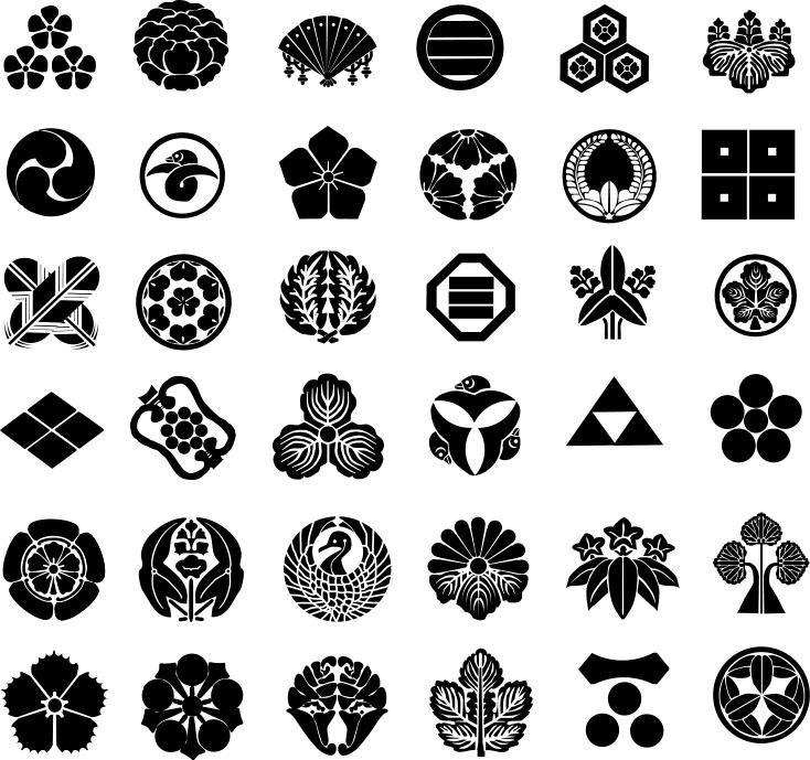 Schreiner Zeichen samurai clan kamon symbole zeichen und stempel