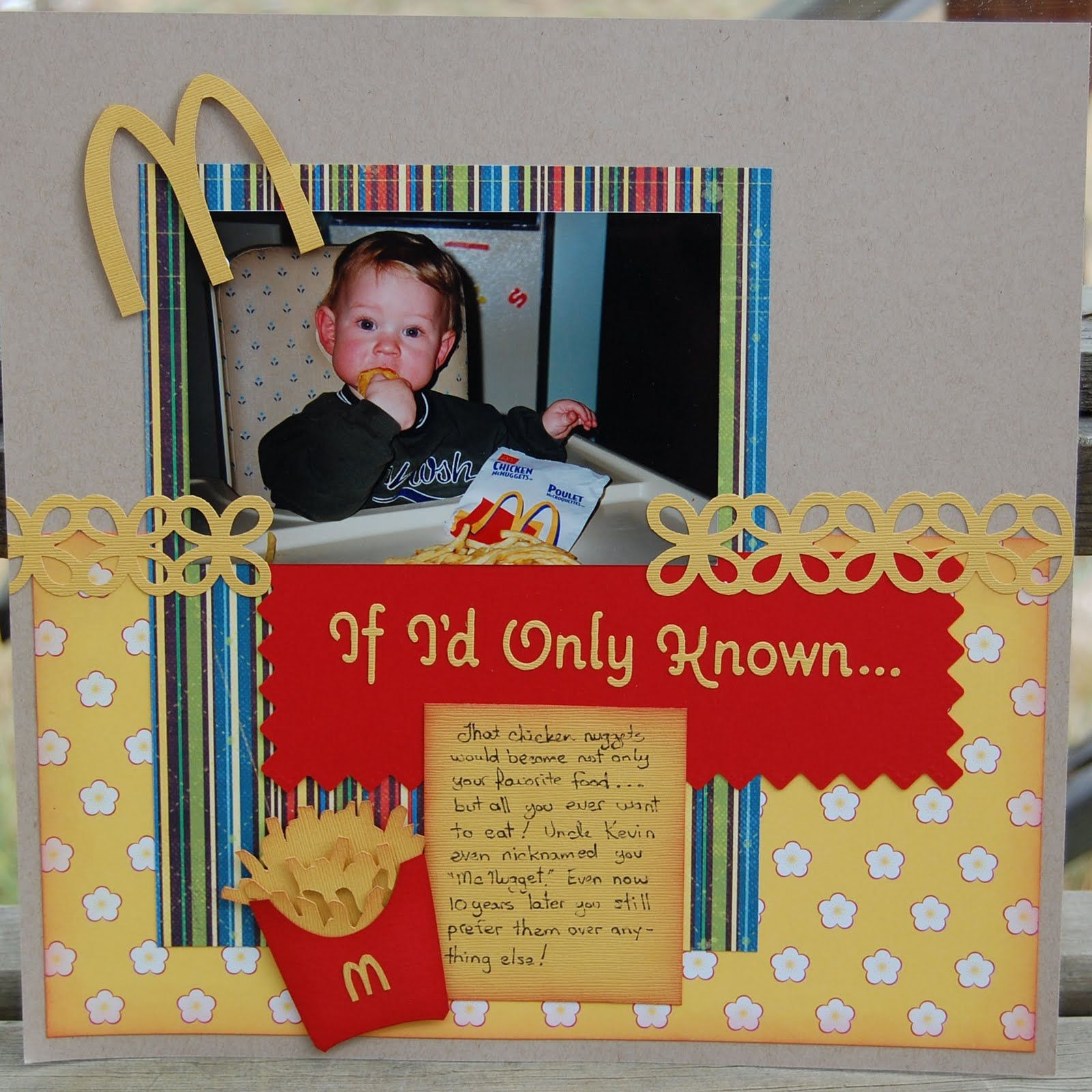 How to scrapbook yahoo - Mcdonald S Scrapbook Layout Yahoo Search Results Yahoo Image Search Results