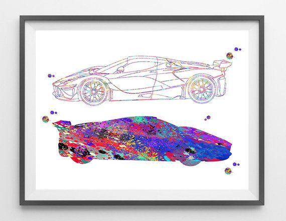 Nascar Race Car Watercolor Print Motor Art Silhouette Racing Car Poster Nascar Painting Sport Coupe Race Car Ra Watercolor Print Nascar Race Cars Wall Art Gift