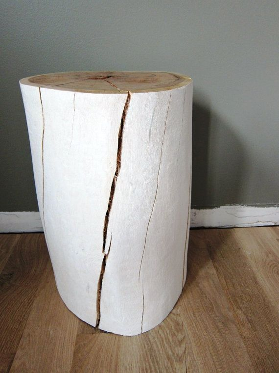 White Oak Tree Stump Stool Or Side Table By TheElizabethElement - White tree stump side table