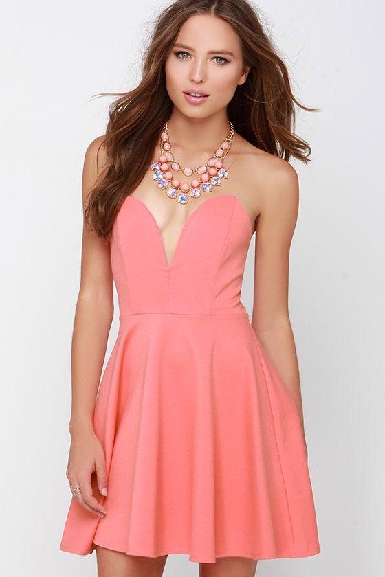 Magníficos vestidos sin tirantes para fiesta | Moda, vestidos y ...
