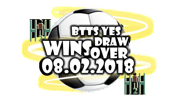 Thursday Football Predictions H2H 08 02 2018 | Free soccer