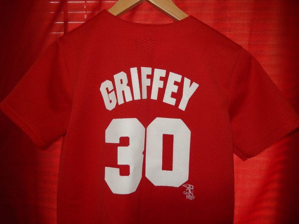 separation shoes d3f39 f06d4 VTG Cincinnati Reds Ken Griffey Jr. Jersey Youth L Majestic ...