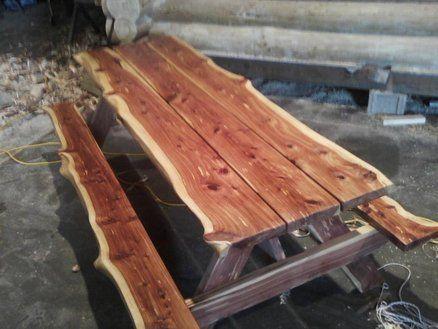 Cedar Slab Table Cedar Wood Projects Wood Crafts Slab Table