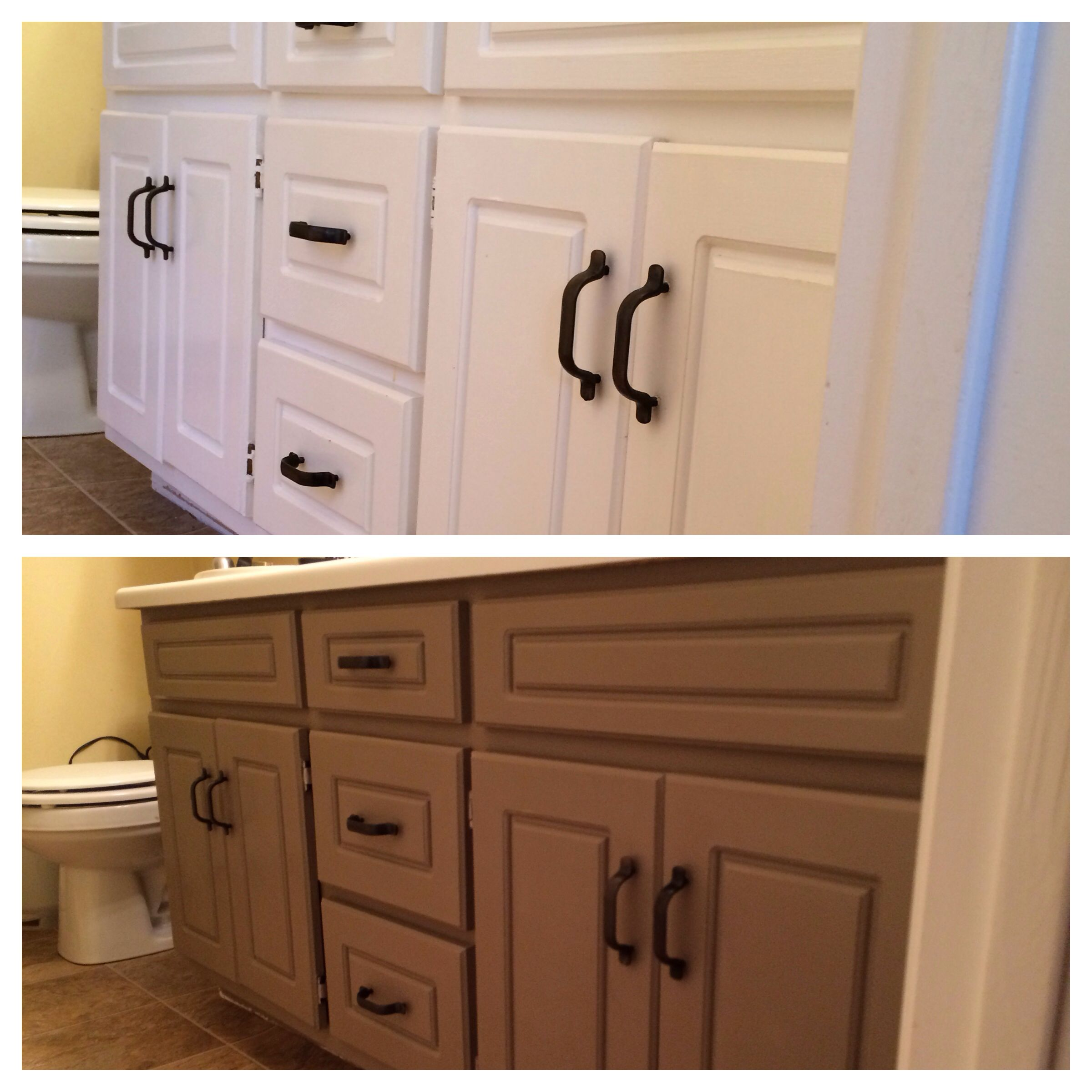 Bathroom vanity makeover with annie sloan chalk paint - My Bathroom Vanity Makeover Using Annie Sloan Chalk Paint In Coco