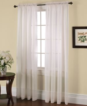 Miller Curtains Solunar Crushed Voile Insulating Sheer Curtain