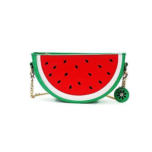 Latest Novelty Cute Watermelon Shape Shoulder Mini Bag for Women