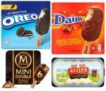 3 Pack Daim/Oreos Lollies 1.25 6 Pack Mini Magnum Peanut Butter 1.94 Kelly Cornish Ice Cream 2.00 6 Pack Iceland Bubblegum Swirls 50p at Iceland