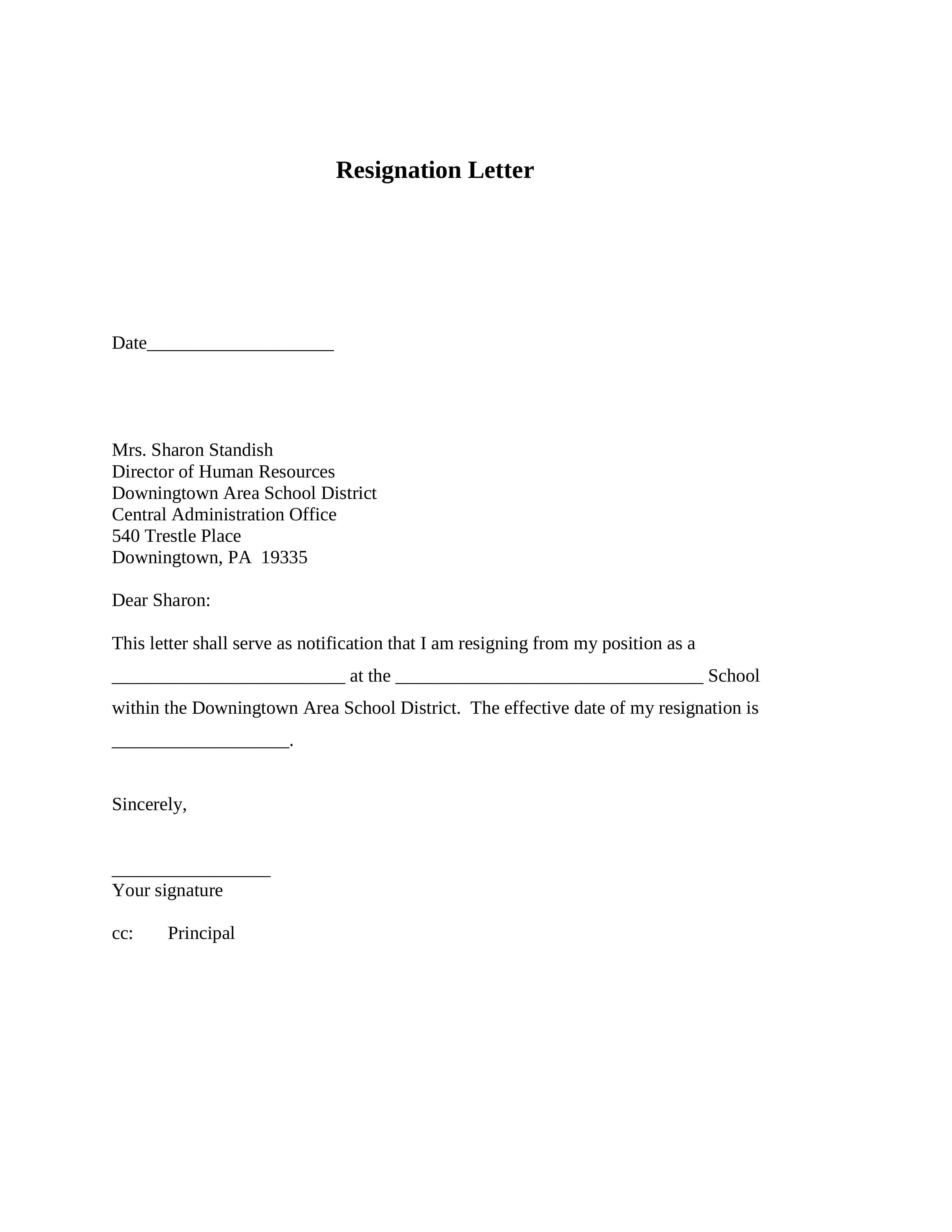 25 Resignation Letter Examples Pdf Doc Resignation Letter