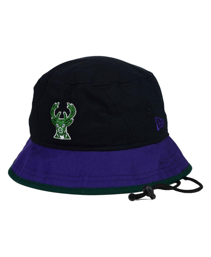 05ac2f18950 ... wholesale new era milwaukee bucks black top bucket hat 6ae25 60ff0
