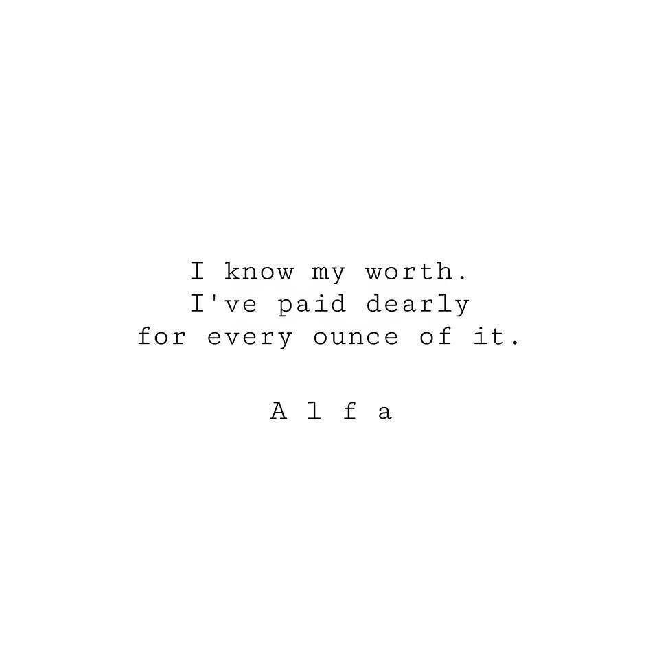 I Know My Worth Typed Poem by Alfa | Etsy