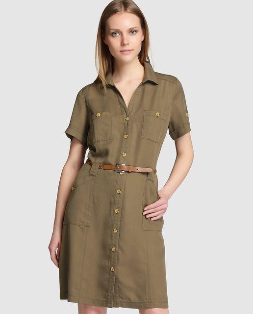 6486b3be7c Vestido camisero de mujer Lloyd s de tencel
