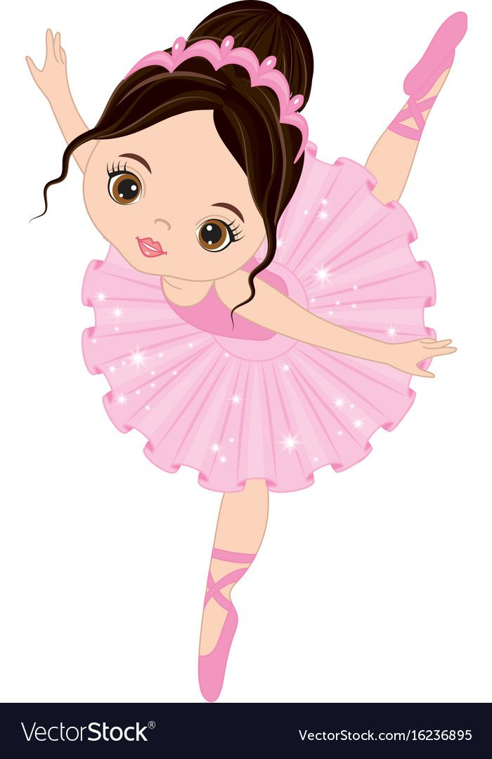 Cute Little Ballerina Dancing Vector Image On With Images Kresby Malov 225 N 237 Baletky