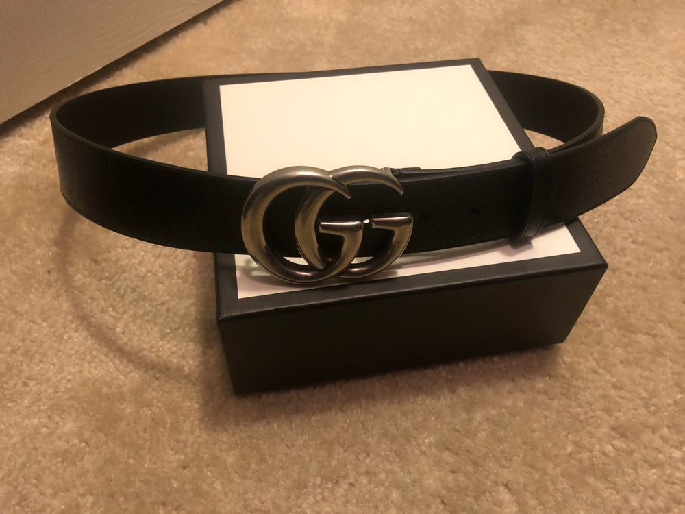 96cdadabf1f Gucci Mens Belt Silver GG Buckle Waist Size 34 Worn Twice  fashion   clothing  shoes  accessories  mensaccessories  belts (ebay link)