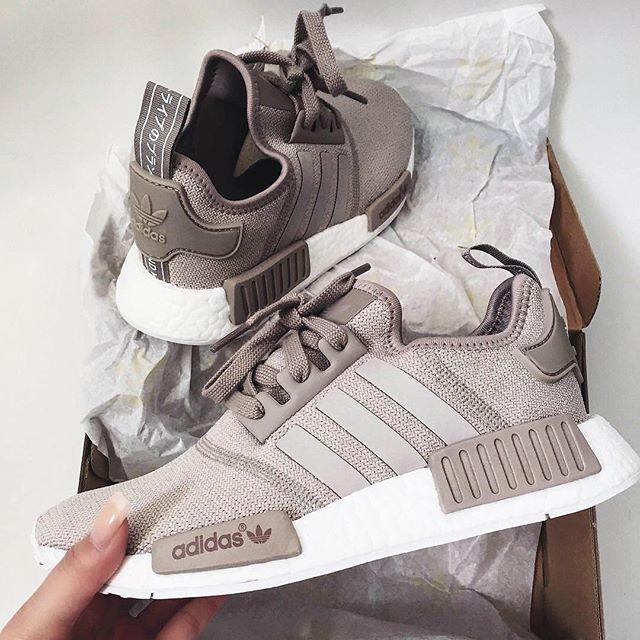 adidas Originals NMD R1 in braunbeige weiß brown white