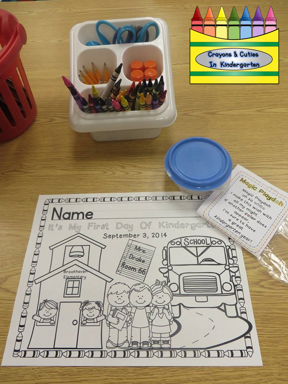 Crayons & Cuties In Kindergarten: First Day of School Coloring Page ...