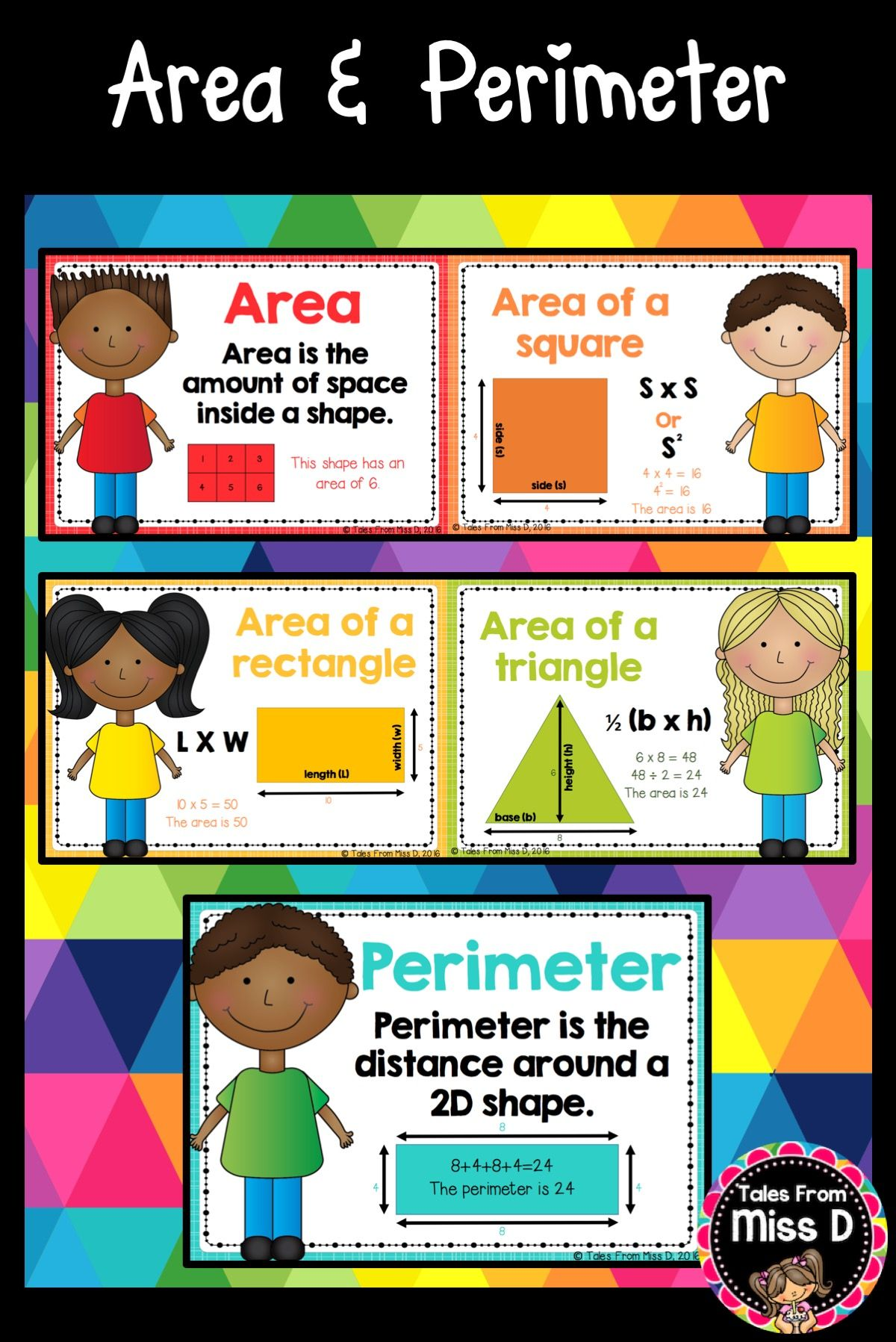 These Area And Perimeter Posters Are Useful Visual