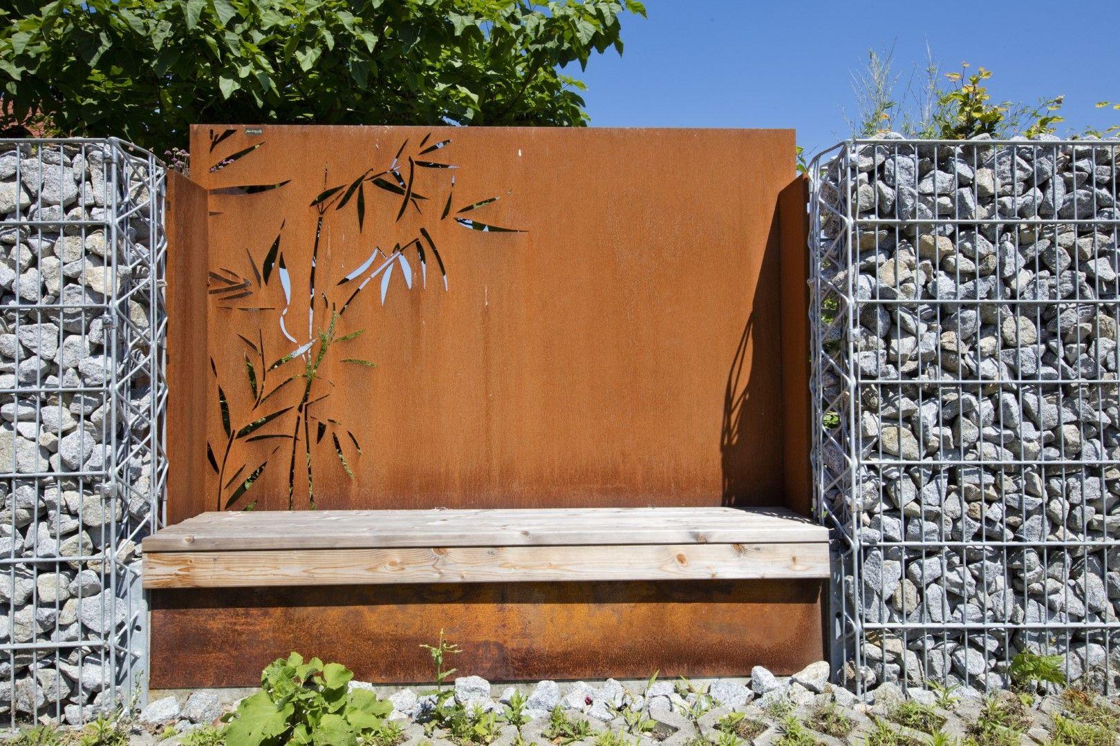 Sichtschutz für den Garten aus Corten Stahl, Rost & in