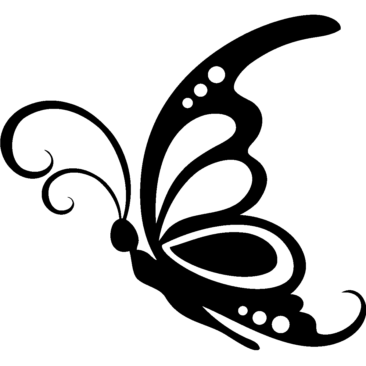 Butterfly Wall Stencils Painting Sticker Grand Papillon Cricut Pinterest Butterfly