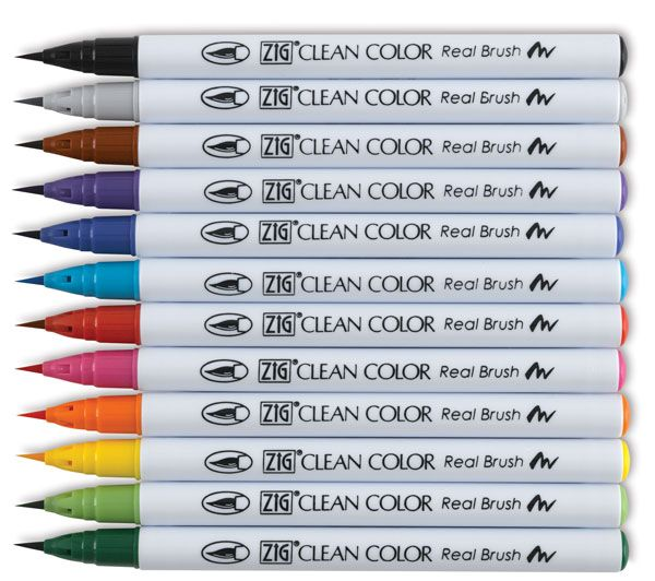 really nice brush pens almost like paint limited selection of colors good for coloring in. Black Bedroom Furniture Sets. Home Design Ideas