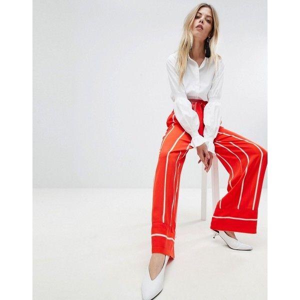 Striped Wide Leg Trousers - Multi Y.A.S Ihgjmn