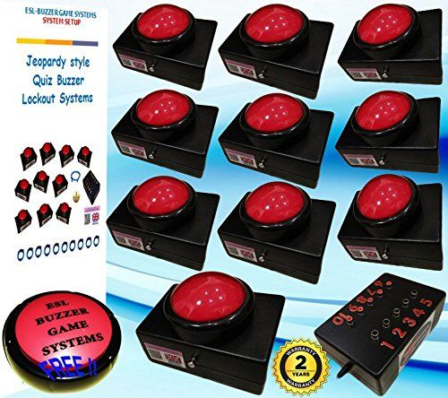 quiz buzzer system 10 player table top slammers with 5mt https