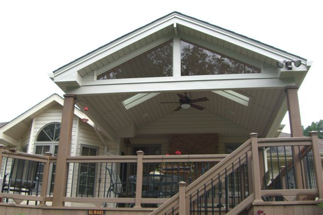Gable Roof Love Railing Great Ceiling Fan Skylights Decorating In 2019 Covered