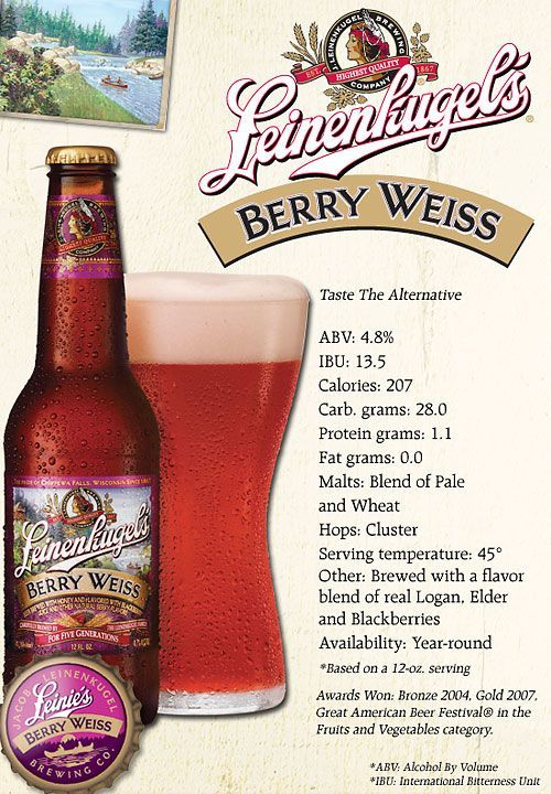 leinenkugel's berry weiss is straight up nasty. only drink if you are collecting…