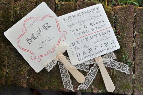 100 Vintage Wedding Favor Fans Or Fan By Wiregrweddings On Etsy 220 00