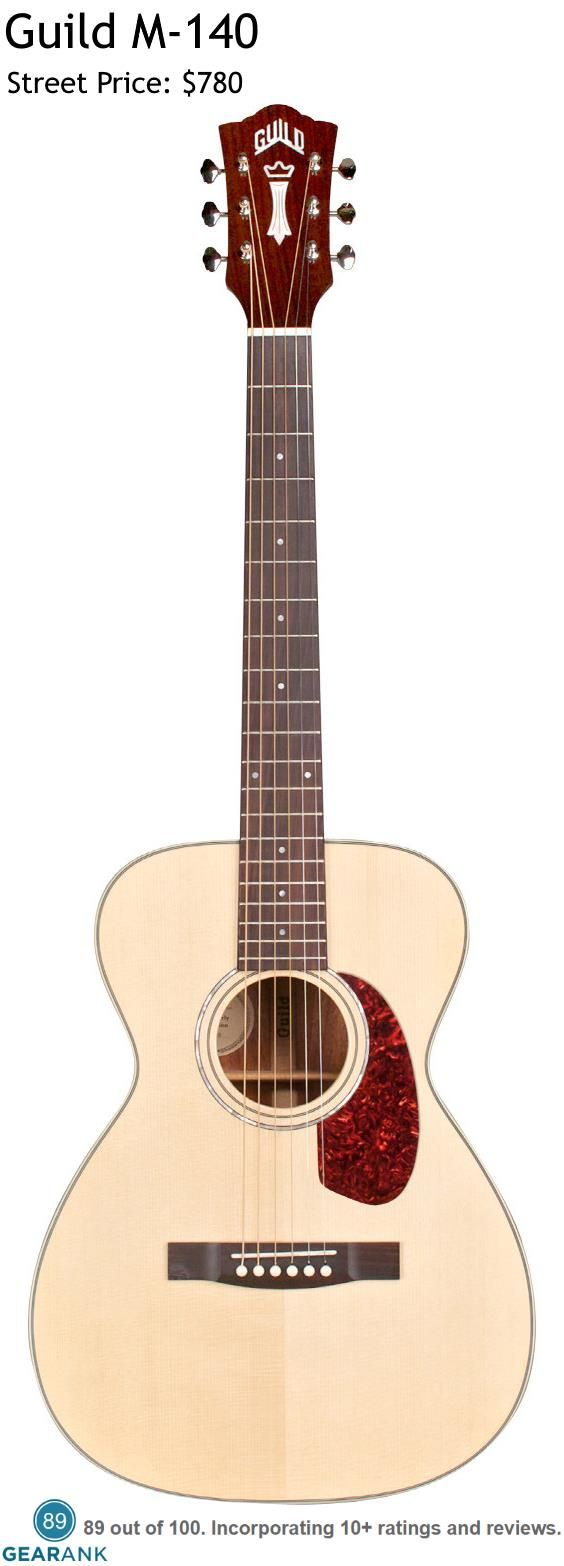 Guild M 140 This Concert Body Sized Guitar Is Designed To Be Comfortable And Easy To Play And Sports A Soli Guild Guitars Best Acoustic Guitar Acoustic Guitar