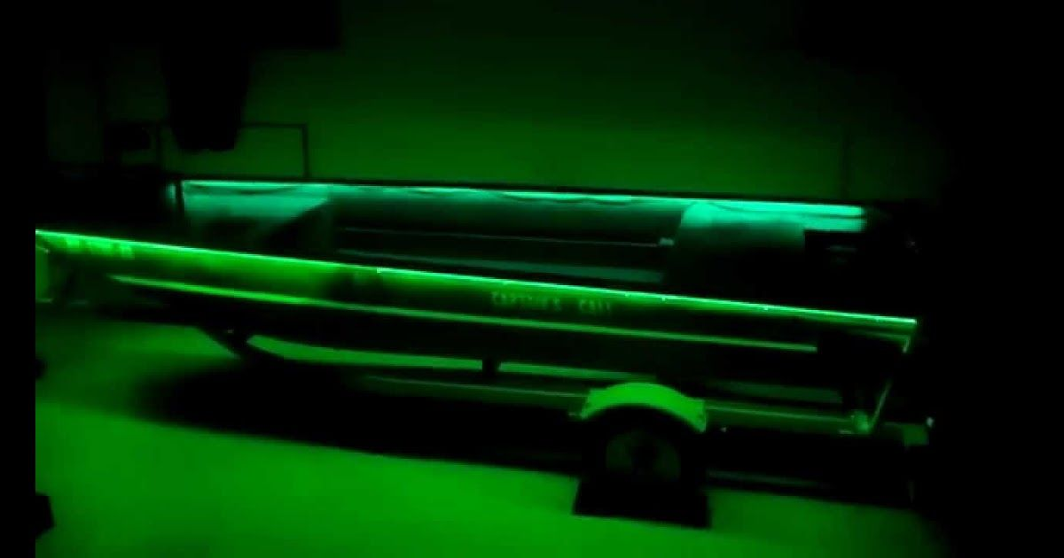 Duck Boat Modification Green Led Lights Ideas For A Small Boat How We Built Our Bowfishing Jon Boat We Have Since Swit In 2020 Small Boats Green Led Lights Duck Boat