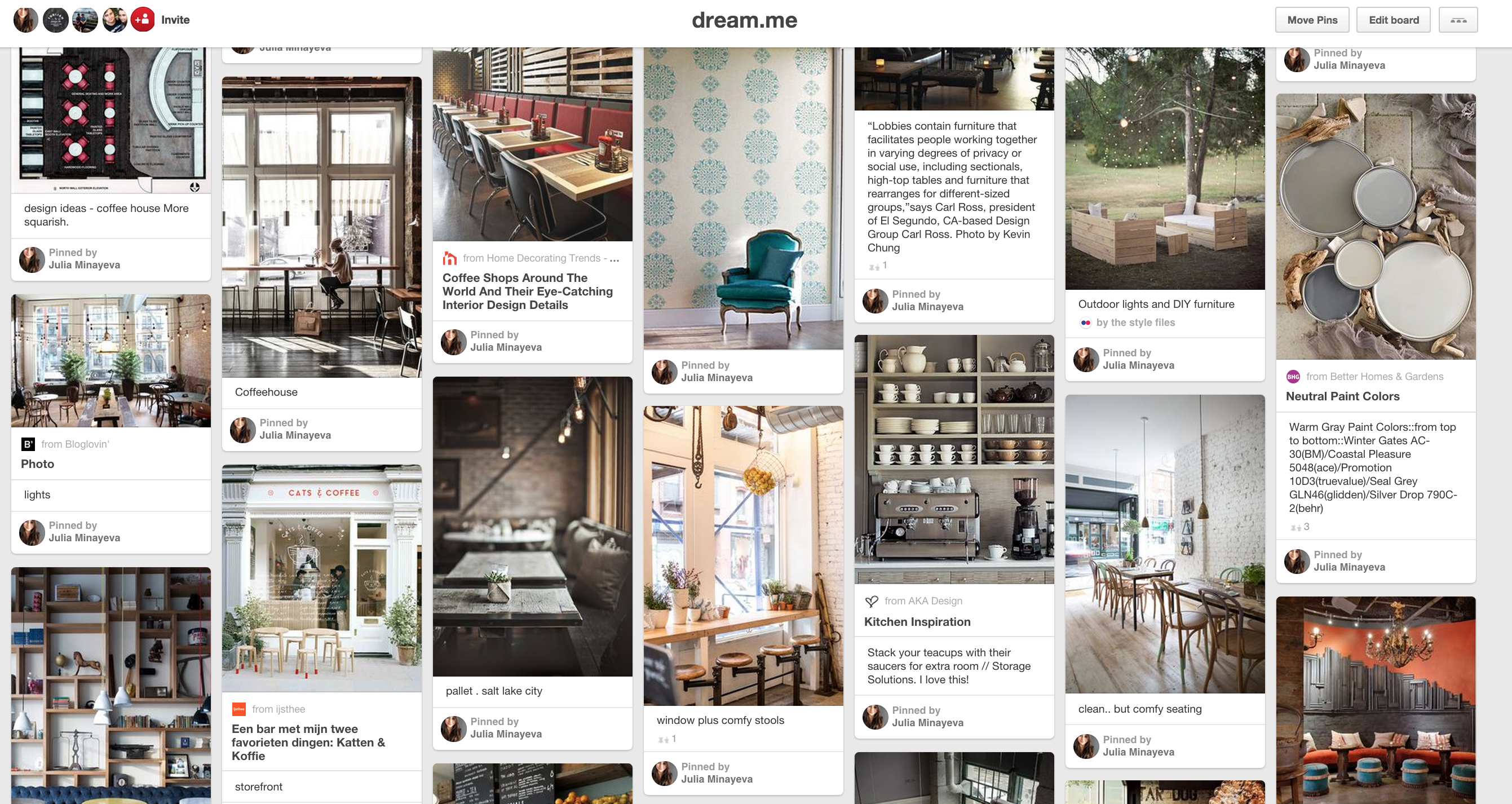 Creating A Vision Board Dream A Latte Coffee Shop Coffee Shop Design Creating A Vision Board