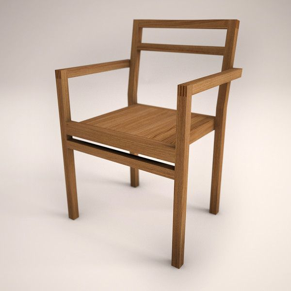 3d Wooden Design Chair   DC Carver, Modern Wood Chair... By Daltonsr