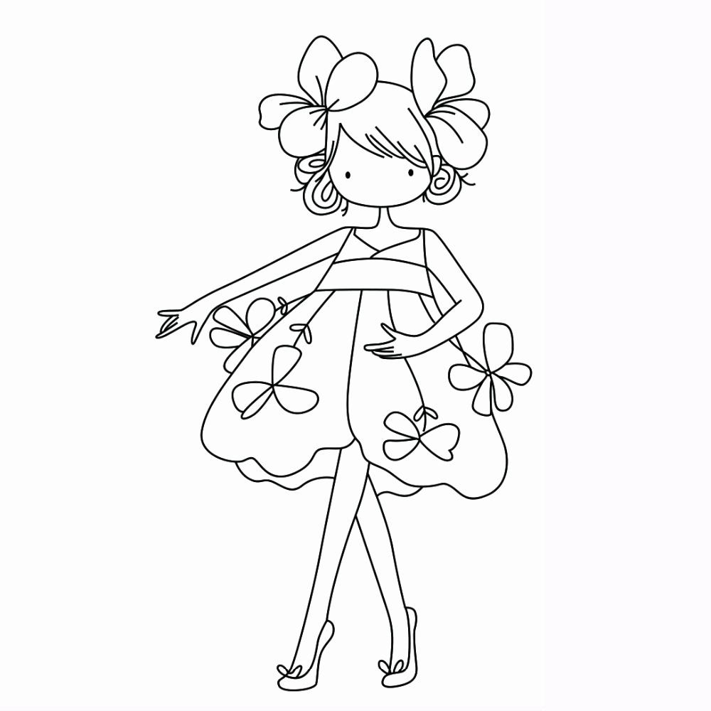 Cute Girl Coloring Pictures Lovely 8 5x4 9 Dibujos Bonitos In 2020 Coloring Books Coloring Pictures Coloring Pages