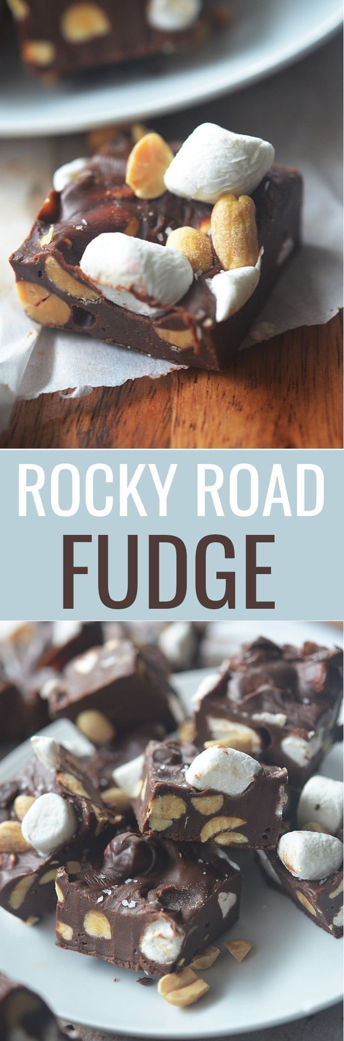 Rocky Road Fudge #rockyroadfudge Rocky Road Fudge - Recipe Diaries #fudge #Christmascandy #christmasrecipes #rockyroadfudge
