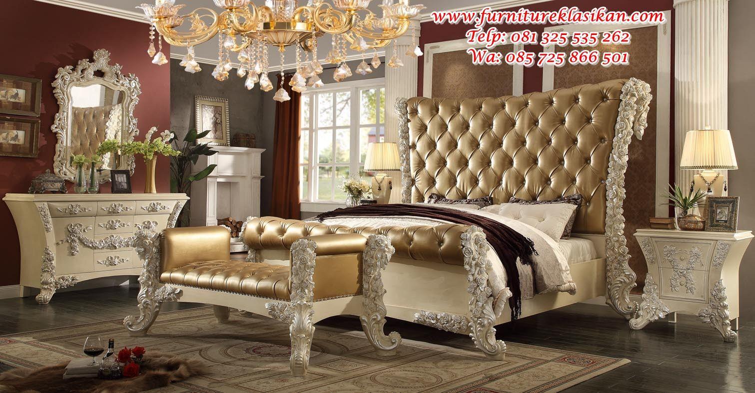 desain tempat tidur klasik modern, gambar desain tempat tidur klasik