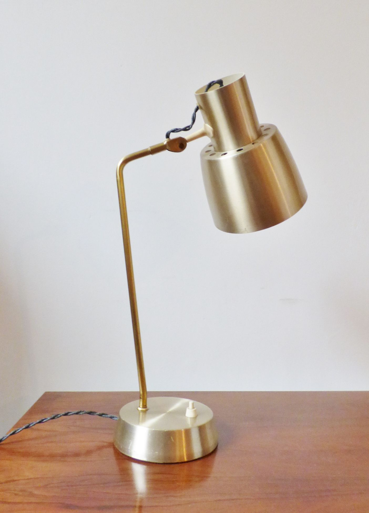 Midcentury danish brass desk lamp liked lights lighting