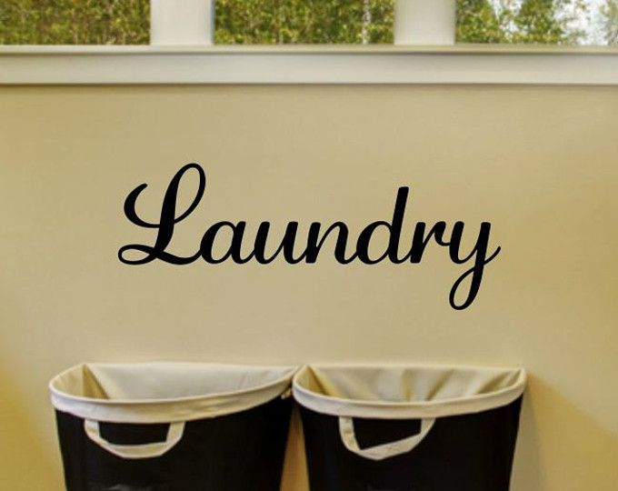 This laundry room decal will make your laundry room or door so pretty!  To see more of my home wall decals click here:  https://www.etsy.com/shop/RunWildVinylDesigns?section_id=15518611&ref=shopsection_leftnav_7  Please see my shop policies before ordering. Vinyl wall decals are not suitable for all walls/paint finishes. Due to the personalized nature of my work, I do not offer refunds or exchanges. Please double check the listed measurements. The photo displayed may not depict the design to…