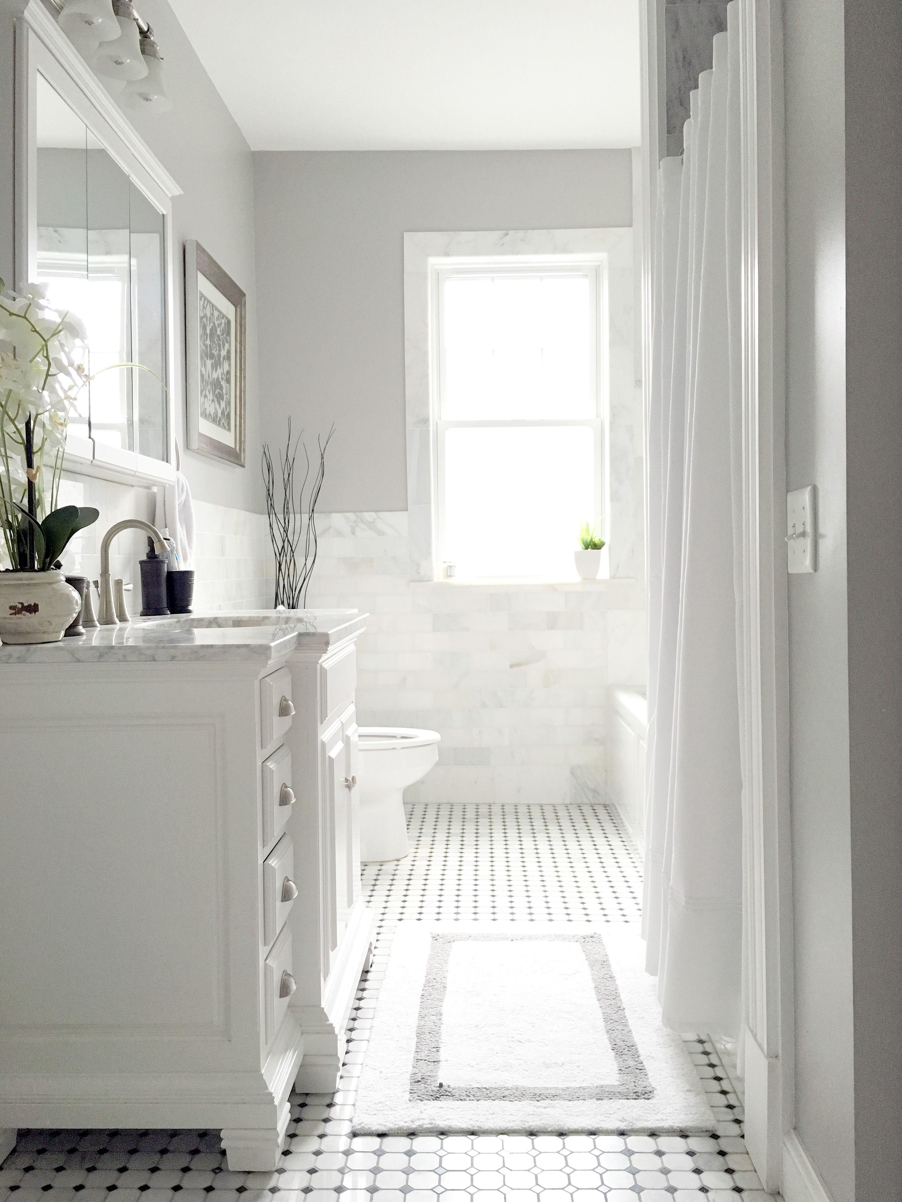 All White Bathroom Victorian Bathroom Modern Bathroom Marble Victorian Modern Glam Bathroom Dream Bathroom Bathroom Design New Homes Home