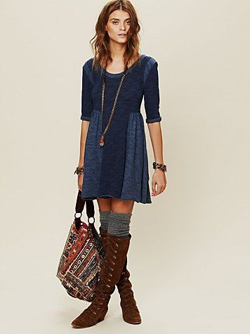 Tail Boots And Socks Pair Well With This Dress For Fall Http Www Freepeople Whats New Good Morning Sunshine