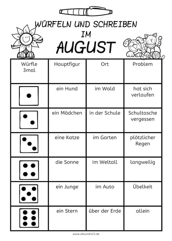w252rfeln und schreiben im august school stuff pinterest