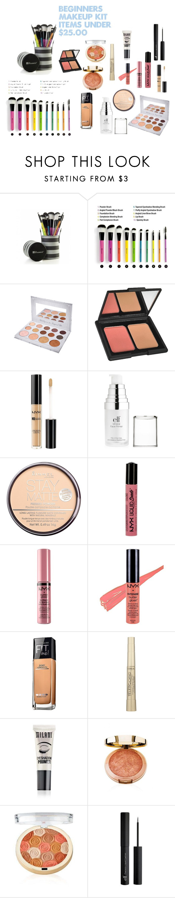 """""""beginners makeup kit items under 25"""" by ladyolivia721 on"""