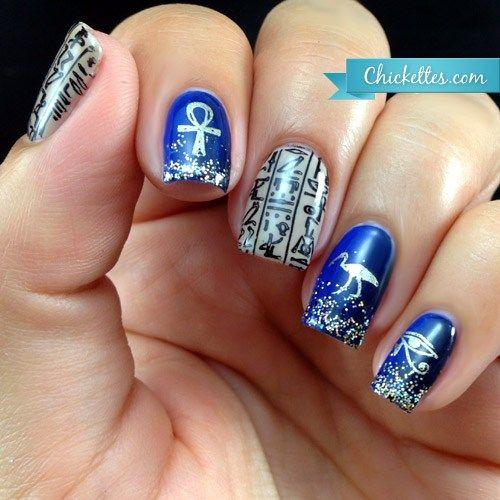 nails.quenalbertini: Egyptian Hieroglyphics Nail Art - Nails.quenalbertini: Egyptian Hieroglyphics Nail Art Egyptian