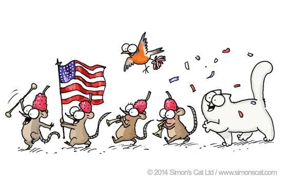 Simon S Cat 4th Of July Whimsical Wishes Pinterest