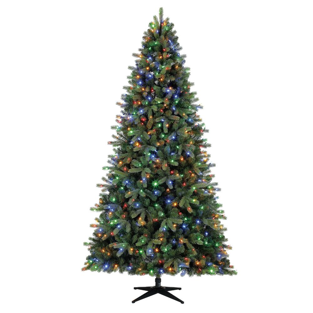 Home Accents Holiday 9 Ft Pre Lit Led Overland Pine Artificial Christmas Tree With 600 Surebright Color Changing Lights Pre Lit Christmas Tree Christmas Tree