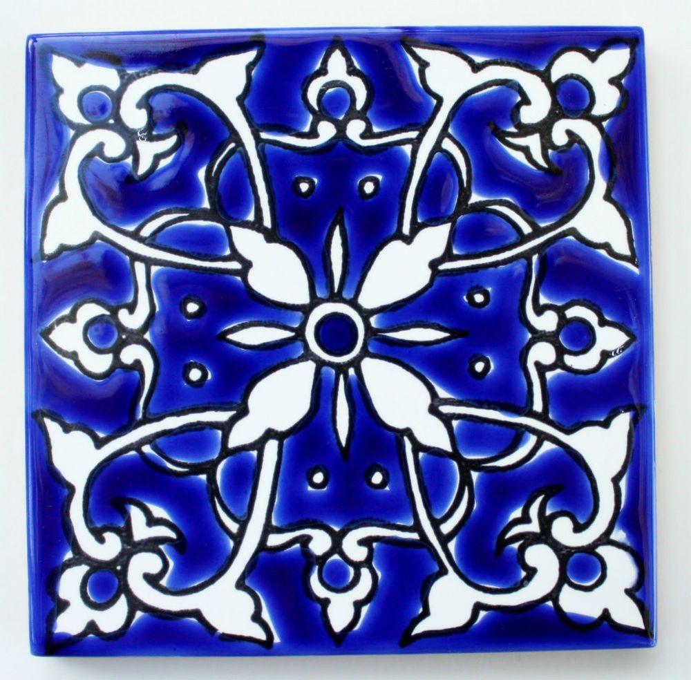 Decorative 4X4 Ceramic Tiles Stunning Details About Mediterranean Frensh Ceramic Tiles  Azur  4 X 4 Inspiration